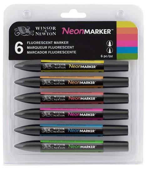 Promarker set 6 Neon Colours