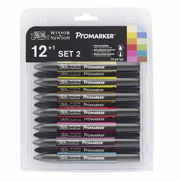 Promarker Set 2 :12 Farben+ Blender