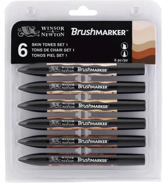 BrushMarker Set 6 Hautfarben