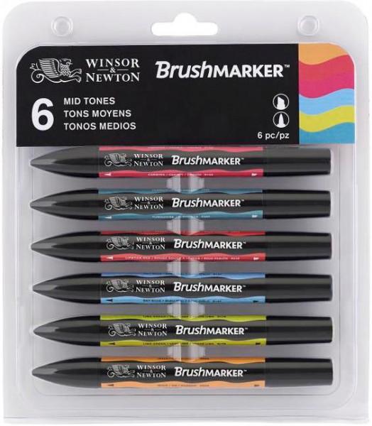 BrushMarker Set 6 MID TONES